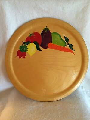 "SUPER RARE LARGE 16"" Vintage RIO GRANDE Hand Painted Woodenware Serving Platter"