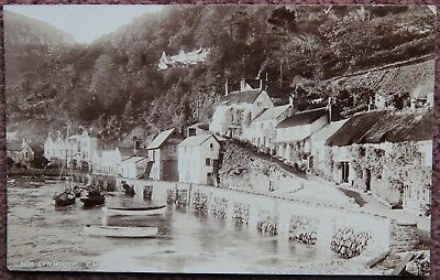 Lynmouth Early 1900's Real Photographic Postcard Postcard Weeks & Gimblett Devon