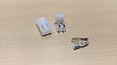 1 Pair - 2 Pin CH3.96 Plug Socket Connector - 3.96mm Pitch - 100V 6 Amp
