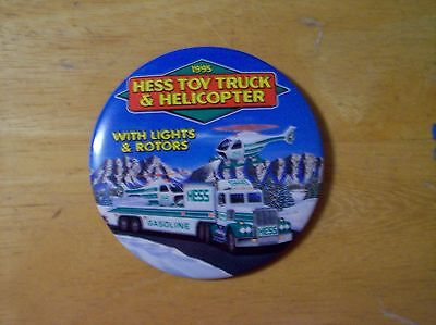 "Hess Vintage ~1995 ~3 "" Button"