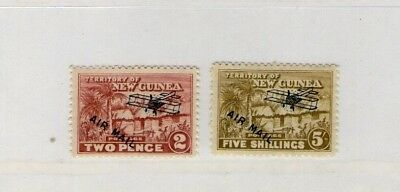 New Guinea Hut Airmail Stamps S.g. 133-34 Cv $200