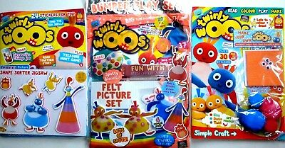 3 x CBEEBIES TWIRLYWOOS MAGAZINE ISSUES #6 - 7 - 8 ~ ALL NEW WITH FREE GIFTS ~