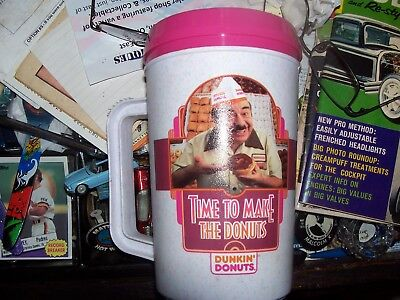 dunkin donuts travel mug(time to make the donuts)