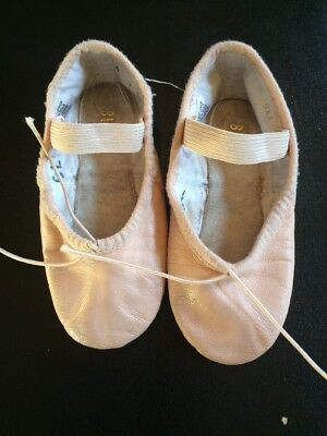 Bloch Girls Kids Pink Ballet Slippers Size 9.5 Leather Dance Shoes