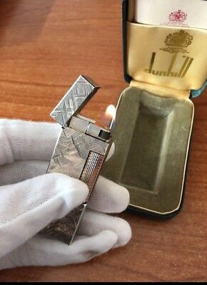 Dunhill Lighter Rollagas Silver Plated Boxed - Accendino Briquet Feuerzeug