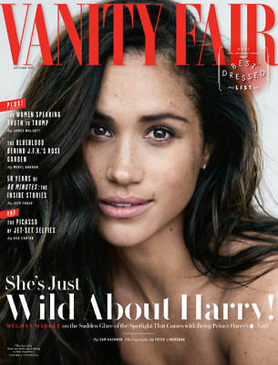 Vanity Fair Magazine Oct 2017 Meghan Markle On Being Prince Harry's Girlfriend