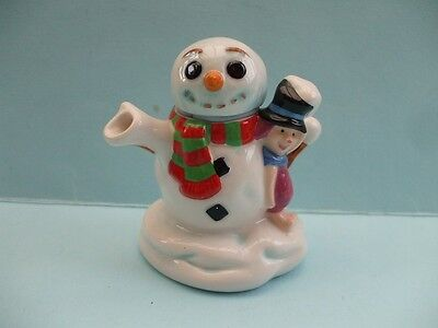 Disney Cardew Snowman / Piglet  Mini,teapot, Ltd Edition, Dec 2005 Perfect.