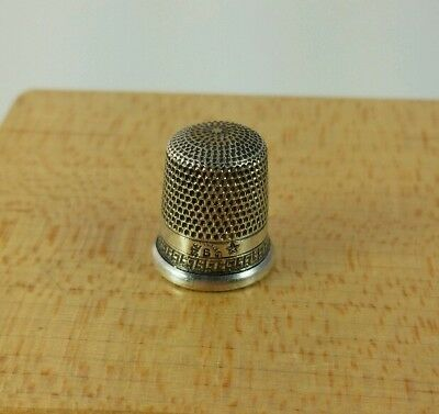Vtg. Antique Sterling Silver Thimble Size 6 Star Mark #7