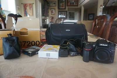 Nikon D7200 24.2MP DSLR Camera with 18-55mm Lens -  Bag and Extras!