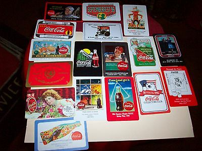 17 coca cola playing cards, coca cola collectors club