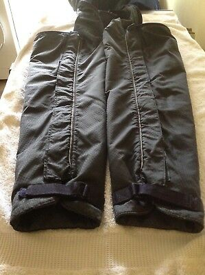 Full Length Waterproof, Fleece Lined Horseriding Chaps Size 10