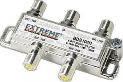 Extreme 4 Way Balanced HD Digital 1GHz high performance coax cable Splitter -