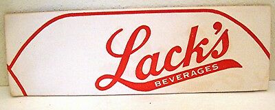 Lack's Beverage Muskegon Michigan Soda Pop Paper Hat Unused Old Store Stock