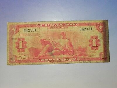 Curacao 1 Gulden Banknote, 1942, Circulated, JCcug 18249
