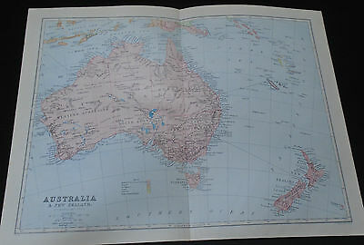 Old Map 1903 Australia & New Zealand