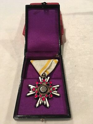 WWII Japanese Order Of The Sacred Treasure Fifth Class Medal In Box