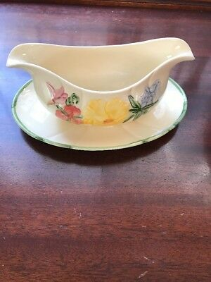 Franciscan Wildflower Gravy Boat with Attached Underplate