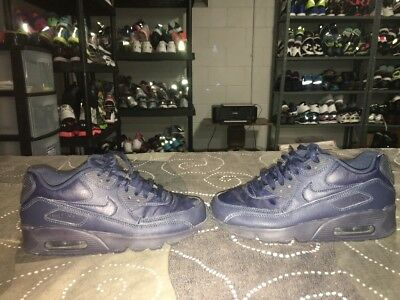 Nike Air Max 90 LTR GS Youth Boys Athletic Shoes Size 4Y Blue Obsidian Navy
