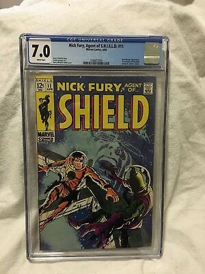 Nick Fury Agent of Shield #11 (1969)  CGC 7.0  BARRY WINDSOR SMITH cover
