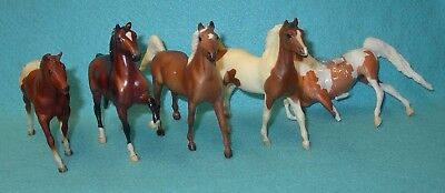 Breyer Lot Of Five Paddock Pals Four In Guc-One Has Broken Leg Included