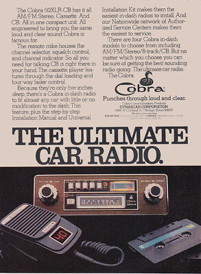 1978 Cobra 50XLR CB: Ultimate Car Radio Vintage Print Ad
