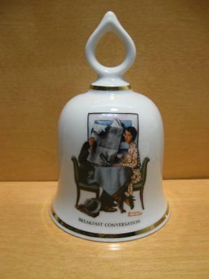 """Vintage Norman Rockwell  Bell """"BREAKFAST CONVERSATION"""" 1979 Wife being Ignored"""
