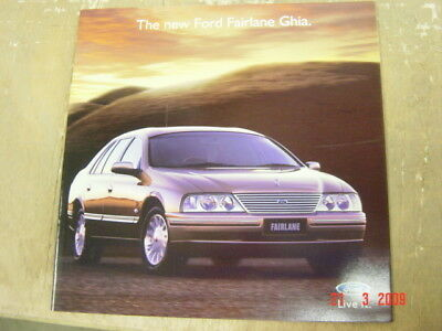 Ford Fairlane Ghia Brochure 3 1999 Booklet Fcl 7558 Excellent Condition