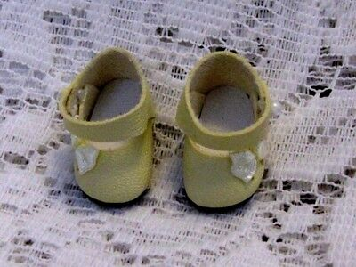 Side Bow Mary Janes For Vogue Ginny Vintage Antique Doll WHITE
