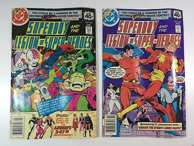 Superboy and the Legion of Super Heroes #247 and #248 Lot of 2 comics