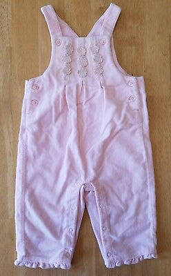 Baby Girls Clothes, Pink/Velvet-like Overalls, Size 3-6 Months, Gymboree brand