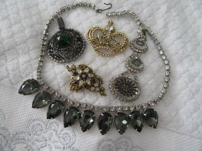 """Stunning  Vintage Brooch Sale  """""""" 5-Assorted Brooches , Ect For Restyle"""