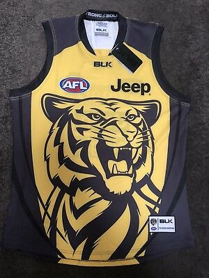 RARE Richmond Tigers Training Guernsey - Size 2XLarge Tight Fit BNWT