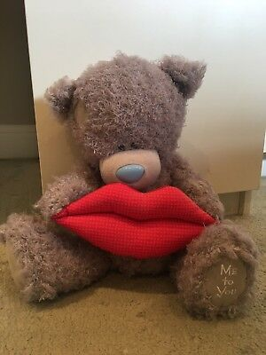NEW [WITHOUT BOX] - 30cm Me To You Kiss Lips Teddy Bear - Valentine's Day Bear