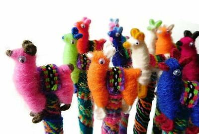 #1157 Wholesale Pack 6 Llama Alpaca Doll Pen Decorated Writing Handmade Lot Asso