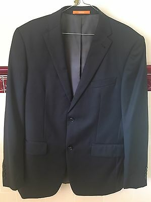 Men's Black Van Huesen Blazer, Suit Jacket, Formal Wear - European Fit Size: 100