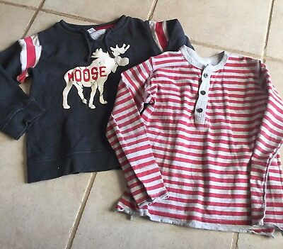 Milky Moose And Fred Bare Striped Tops Size 6
