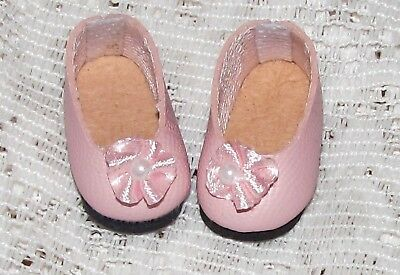 Pearly Flats For Vogue Ginny Vintage Antique Doll PINK