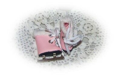 Furry ICE SKATES For Vogue Ginny Vintage Antique Doll PINK