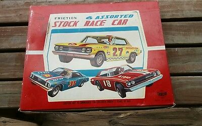tin toy Mercedes race cars New Old Stock original box Kyoei Japan 60s friction