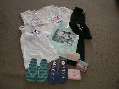Girls Size 8! Roxy Billabong Trackies Tops Hat Etc