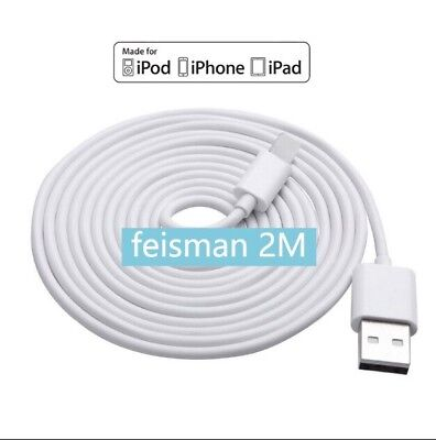 Cable Compatible iPhone 7 Plus 6S 6 Plus Fast Charging Data Cord 2 Meters Long