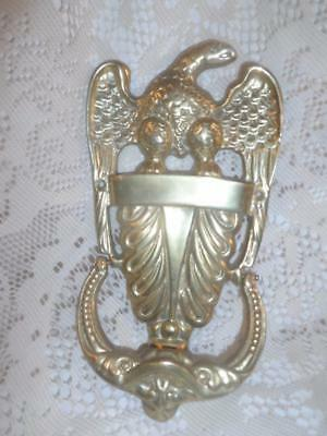 Vntg~Antq LARGE Ornate Cast Bronzed Brass American Eagle Door Knocker Home Decor