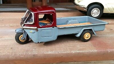 tin toy 1950s Mazda 3 wheel delivery Bandai Japan  Very Rare works