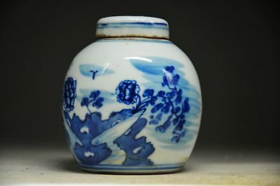 DELICATE CHINESE BLUE AND WHITE PORCELAIN HANDWORK FLOWER POT zp