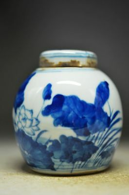 INGENIOUS CHINERSE  BLUE AND WHITE PORCELAIN HANDWORK FLOWER POT zp