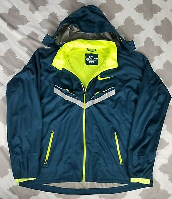 9851c3ddf011 Nike Air Storm Fit 5 Pro Elite Vapor Hoodie Running Jacket 3XL Waterproof  3M EUC
