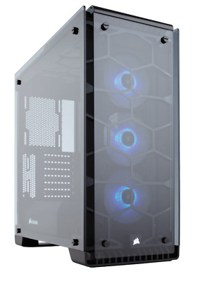 Corsair Crystal 570X RGB, Tempered Glass, Premium ATX Mid-Tower Case - W Fans!