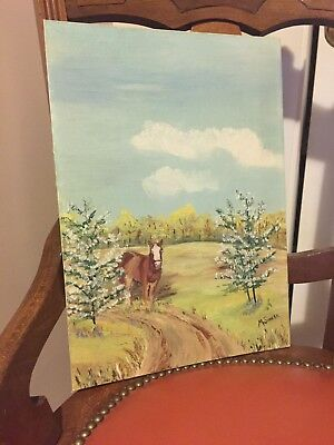 Vintage Horse Painting