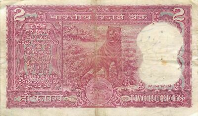 India  2  Rupees   ND. 1975   P 53b  Series  X/92  Circulated Banknote LBF8