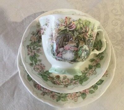 Royal Doulton Brambly Hedge Summer Cup, Saucer & Plate.Made in England.